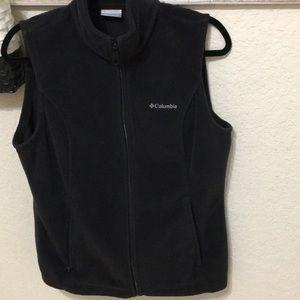 Black Columbia fleece zipper vest Sz M